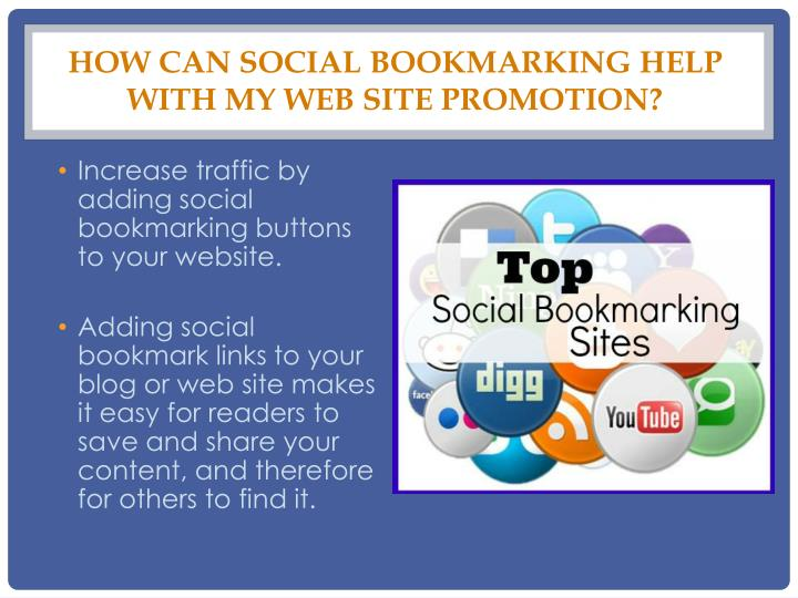 How can Social Bookmarking help with my web site promotion