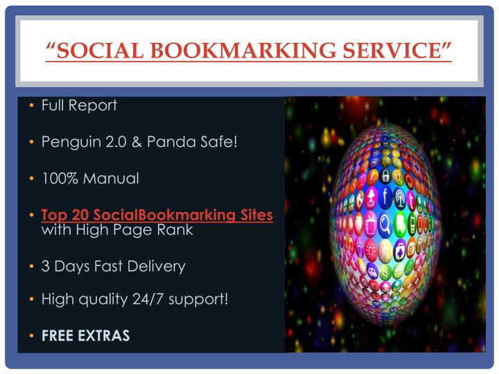 """SOCIAL BOOKMARKING SERVICE"""