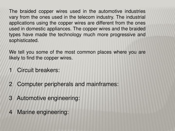 PPT - Braided copper wire PowerPoint Presentation - ID:7129517