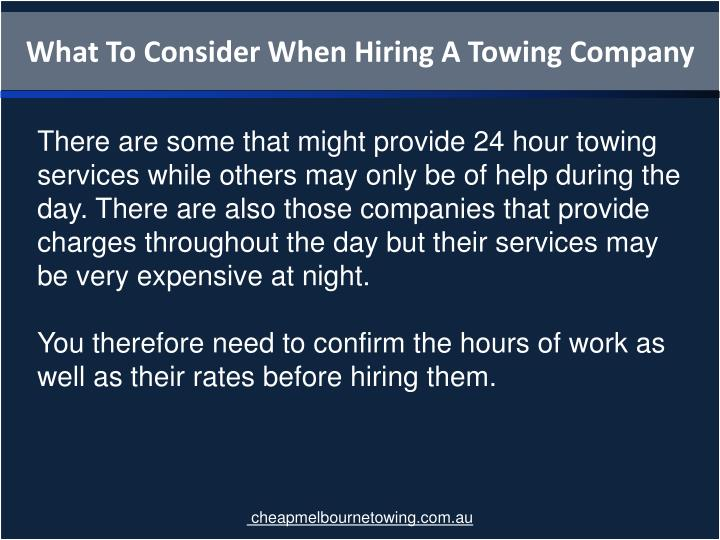 What To Consider When Hiring A Towing Company