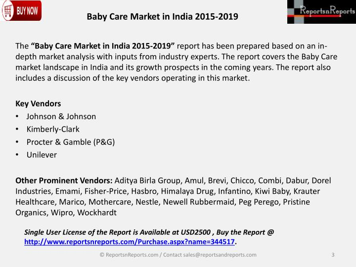 Ppt  New Report On Baby Care Market In India  Powerpoint  Baby Care Market In India
