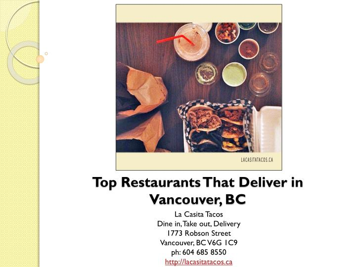 top restaurants that deliver in vancouver bc n.