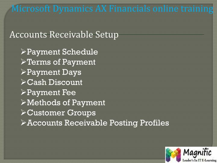 Microsoft Dynamics AX Financials online training
