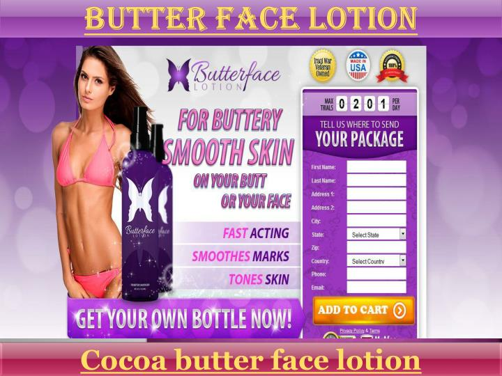 Butter face lotion
