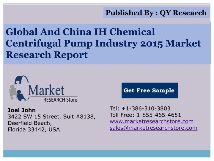 global and china ih chemical centrifugal pump industry 2015 market research report n.
