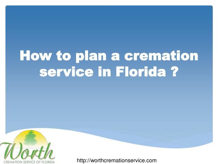 how to plan a cremation service in florida n.