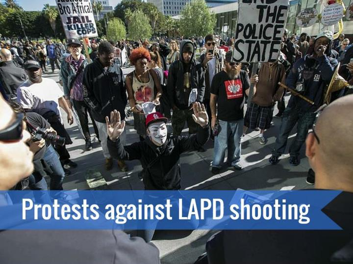 protests against lapd shooting n.