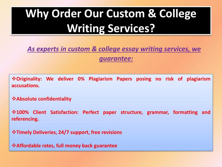 Custom academic writing students ppt