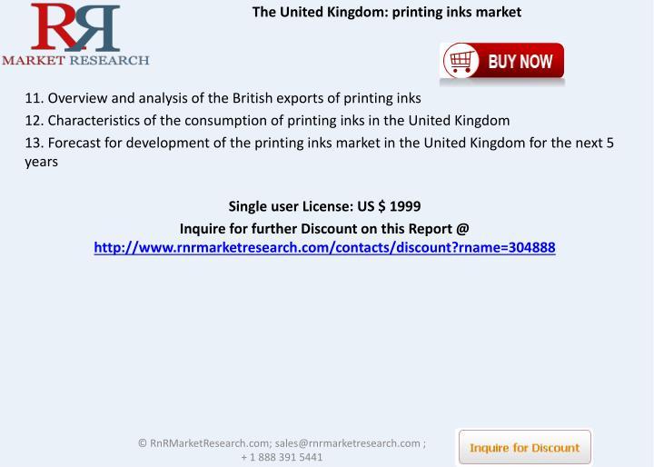 The United Kingdom: printing inks market