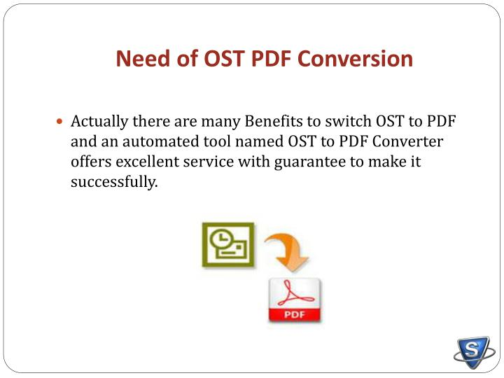Need of ost pdf conversion
