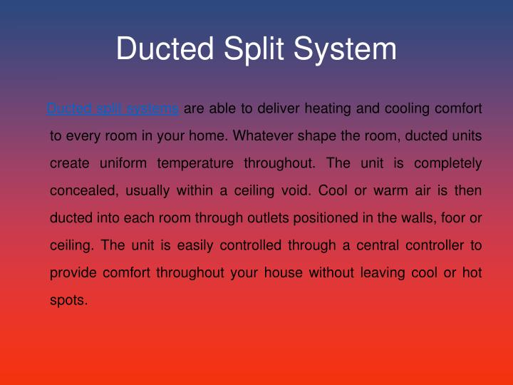 Ducted split system