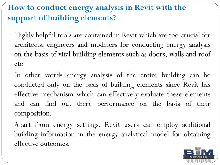 How to conduct energy analysis in revit with the support of building elements