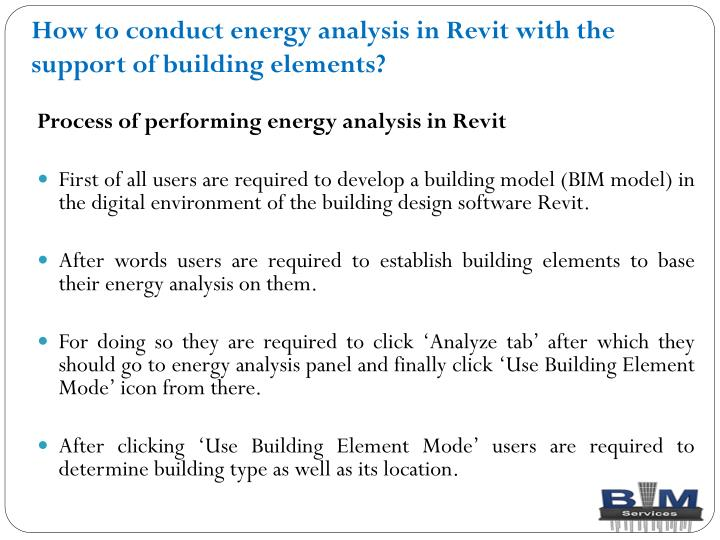 How to conduct energy analysis in revit with the support of building elements1