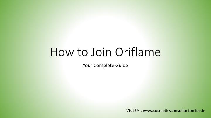 how to join oriflame n.