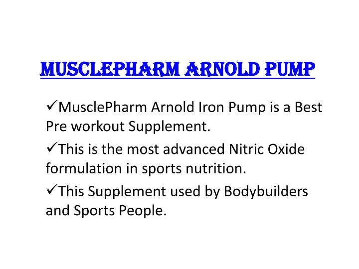 musclepharm arnold pump n.