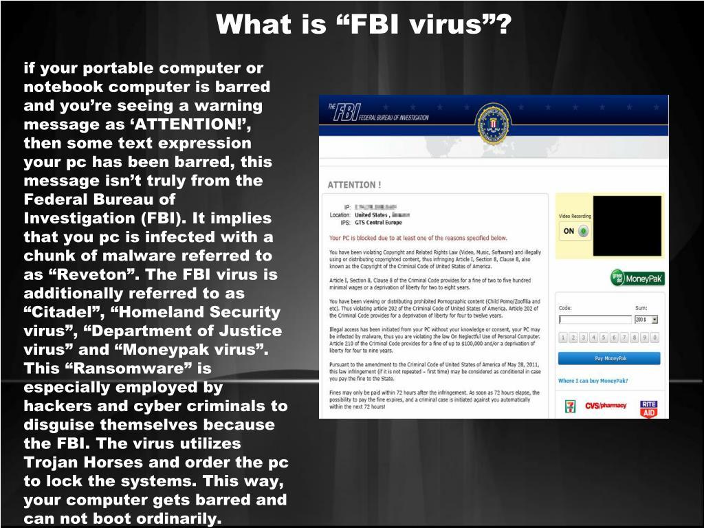 Computer Virus Fbi Warning