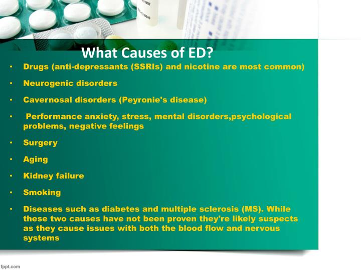 What Causes of ED?