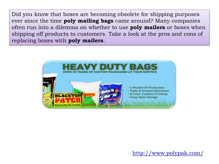 Did you know that boxes are becoming obsolete for shipping purposes ever since the time