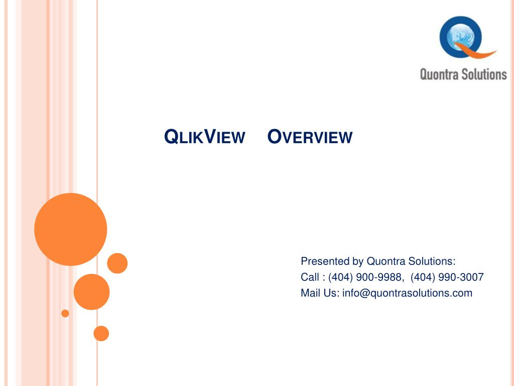 Ppt Qlikview Introduction By Quontra Solutions Powerpoint