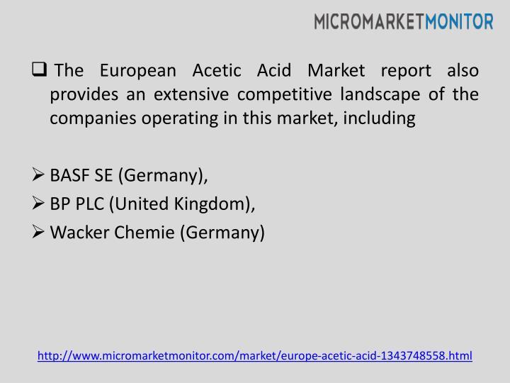 The European Acetic Acid