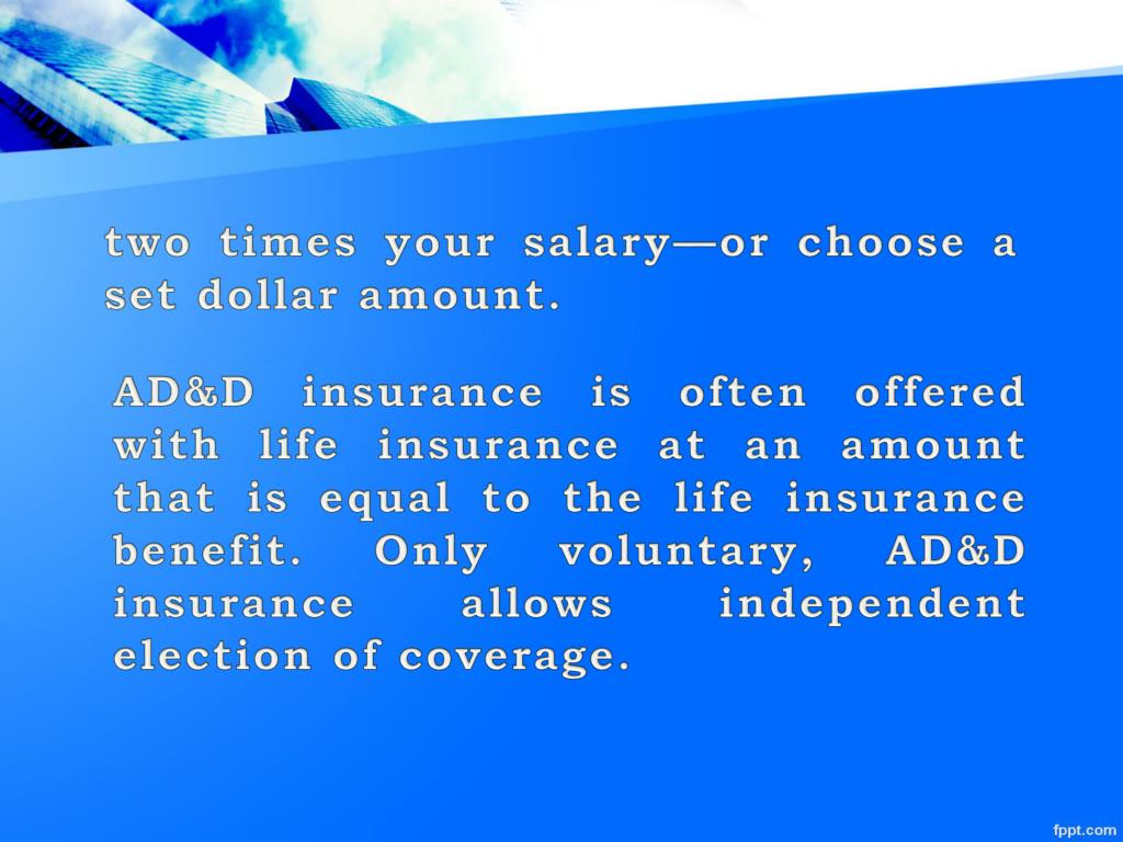 Ppt Ad D Vs Accident Insurance Powerpoint Presentation Free Download Id 7131892