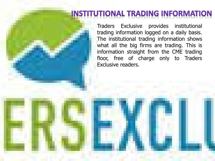Institutional Trading Information