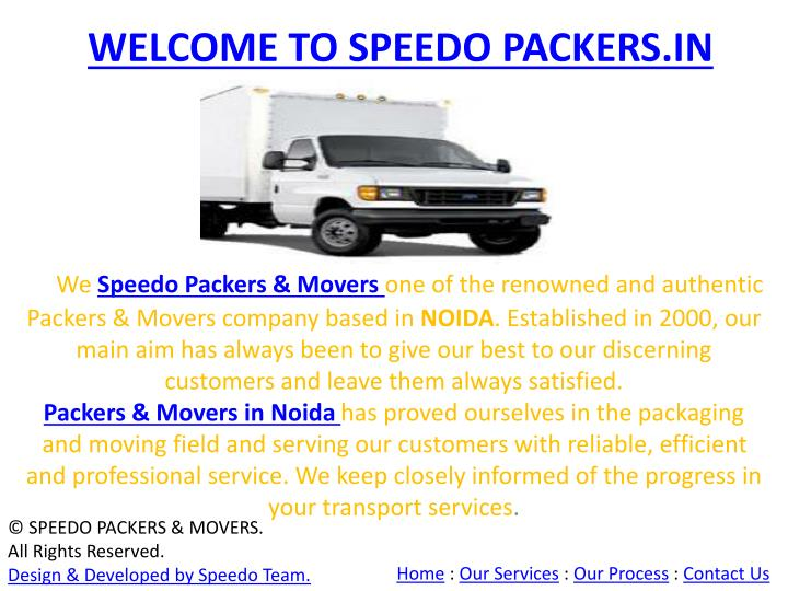welcome to speedo packers in n.