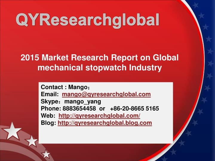 2015 market research report on global mechanical stopwatch industry n.