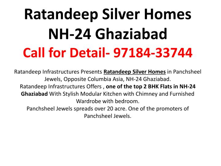 Ratandeep Silver Homes NH-24 Ghaziabad