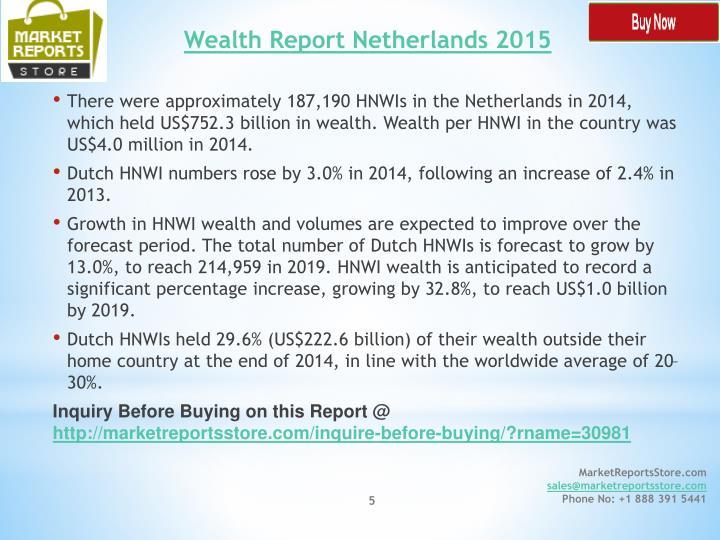 Wealth Report Netherlands 2015