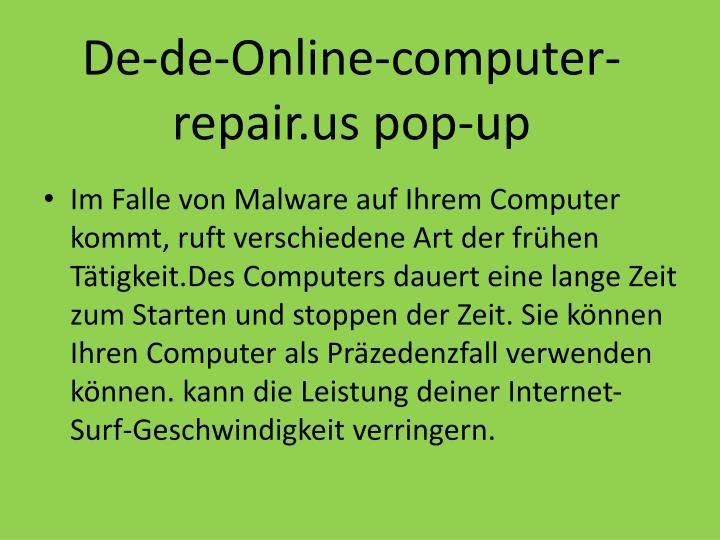 De-de-Online-computer-repair.us pop-up