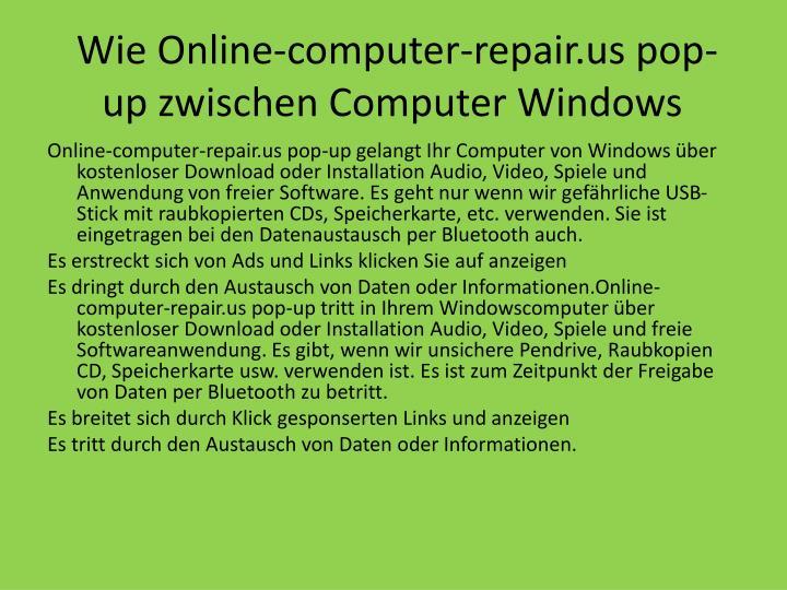 Wie online computer repair us pop up zwischen computer windows