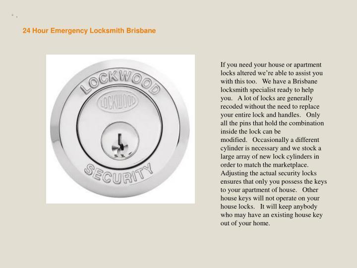 24 Hour Emergency Locksmith Brisbane