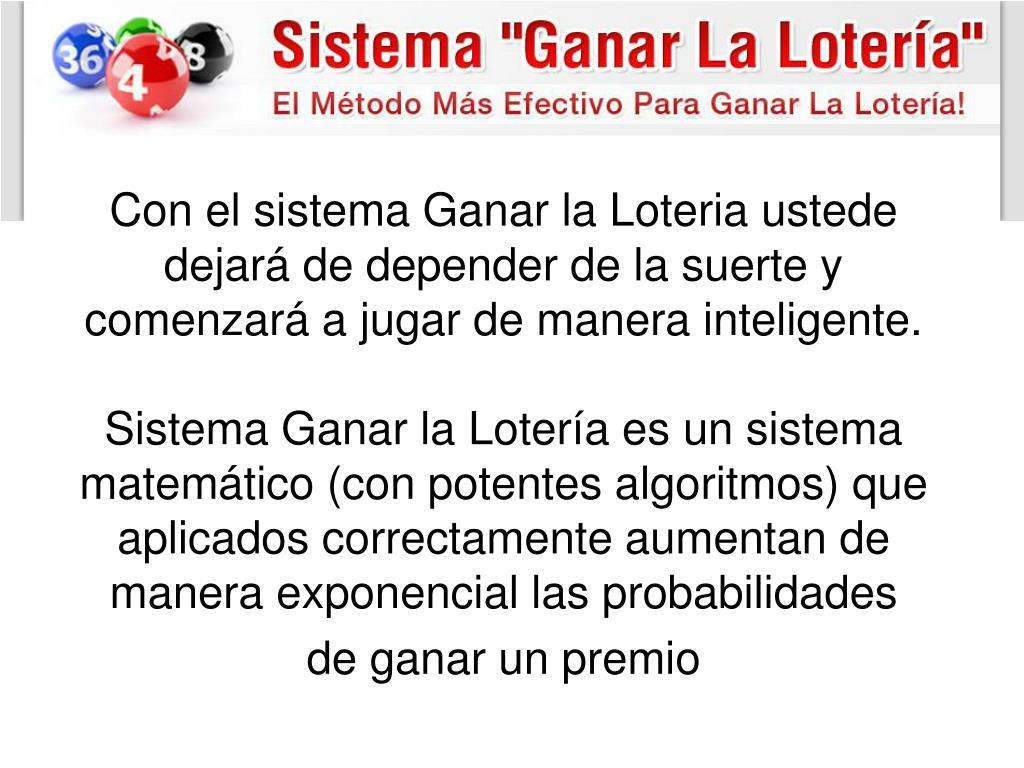 PPT - Sistema Ganar La Loteria libro pdf de Alexander