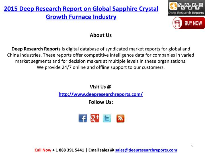 2015 Deep Research Report on Global Sapphire Crystal Growth Furnace Industry