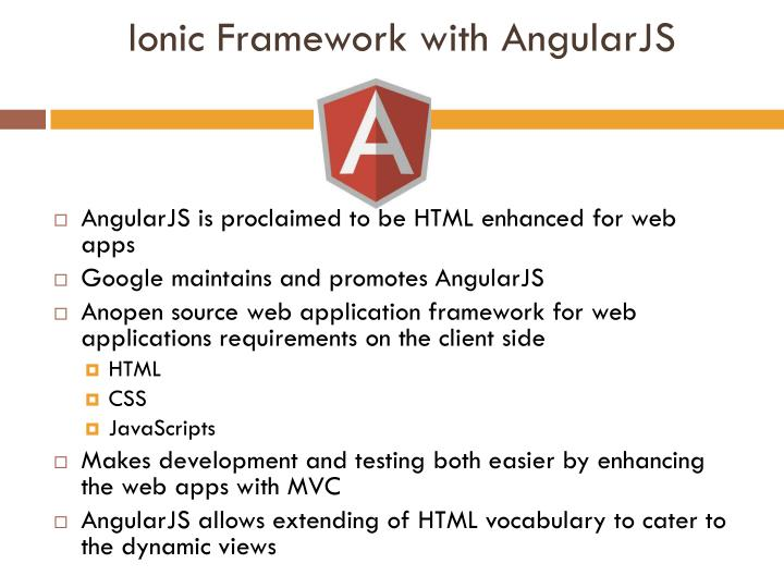 Ionic Framework with
