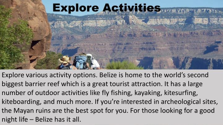 Explore Activities