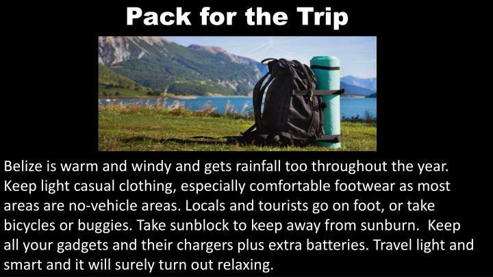Pack for the Trip