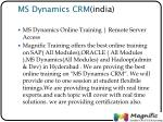 ms dynamics crm india