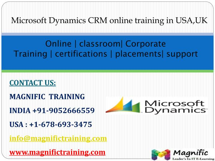 online classroom corporate training certifications placements support n.