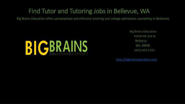 find tutor and tutoring jobs in bellevue wa n.