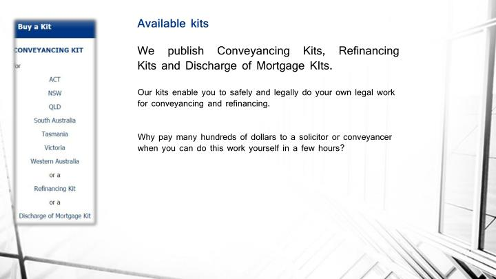 Ppt conveyancing act powerpoint presentation id7134023 we publish conveyancing kits refinancing kits and discharge of mortgage kits solutioingenieria Gallery