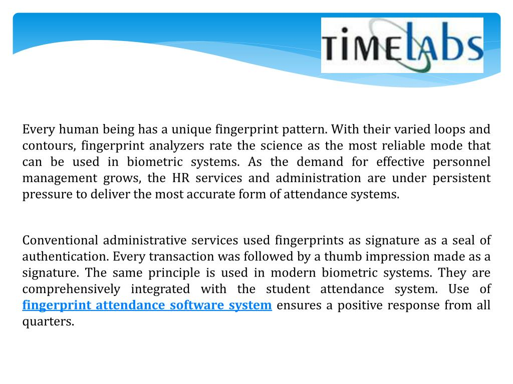 PPT - Fingerprint Attendance Software System PowerPoint