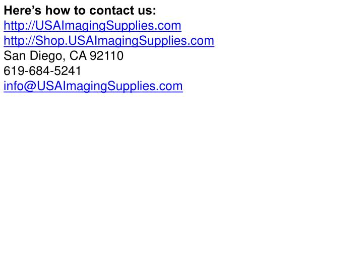 Here's how to contact us: