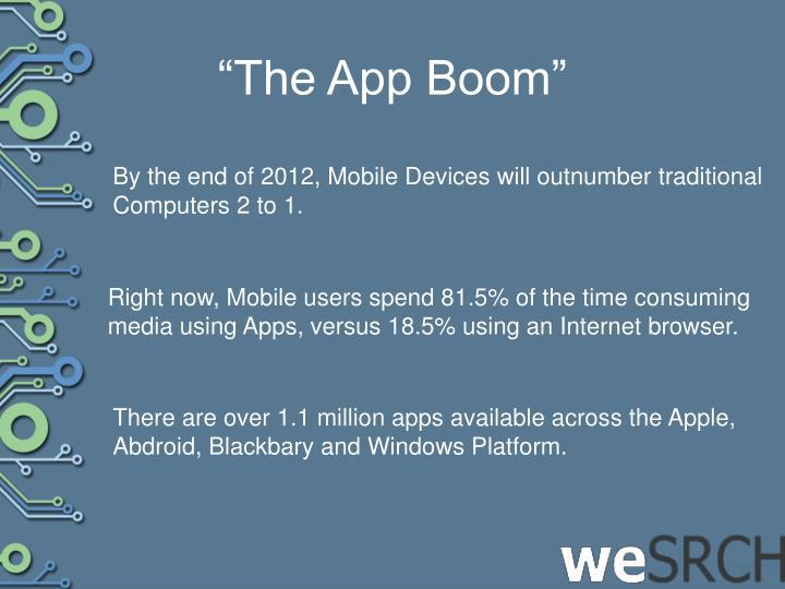 """The App Boom"""