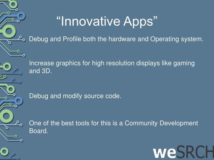 """Innovative Apps"""