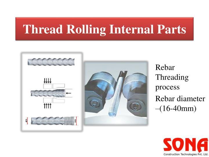 Thread Rolling Internal Parts