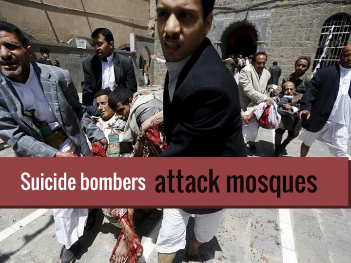 suicide bombers attack mosques n.