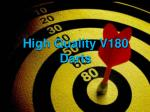 high quality v180 darts