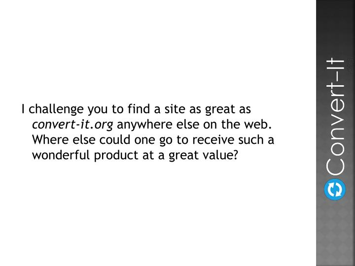 I challenge you to find a site as great as